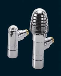 Bisque Valve Set H Angled Thermostatic Radiator Valves