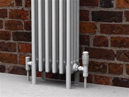 Bisque Valve Set K Angled Thermostatic Radiator Valves