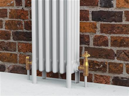 Bisque Valve Set N Angled Thermostatic Radiator Valves