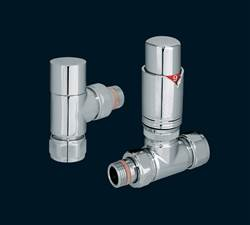 Bisque Valve Set T MixedThermostatic Radiator Valves