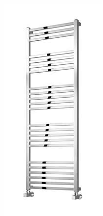 Reina Vasto Square Tubed Chrome Heated Towel Rail