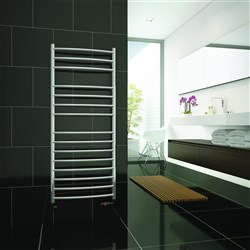 DQ Double Quick Zante Stainless Steel Electric Towel Rail