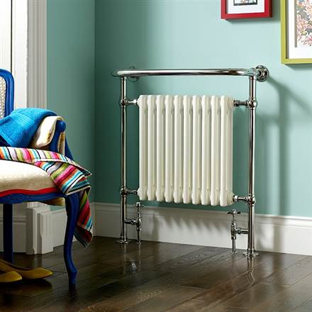 Bisque Balmoral Traditional Heated Towel Rail