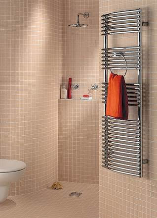 Zehnder Sfera Bow Designer Heated Towel Rail