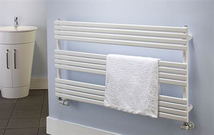 The Radiator Company BDO Camino White Heated Towel Rail