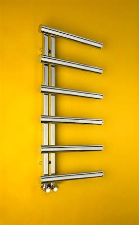Bisque Chime Stainless Steel Heated Towel Rail