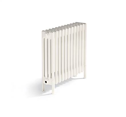 Bisque Classic 4 Column Radiators with Welded Feet - White