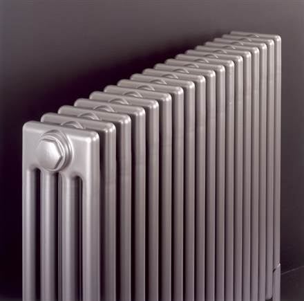Bisque Classic 4 Column Radiators with Welded Feet -  Anthracite Finish