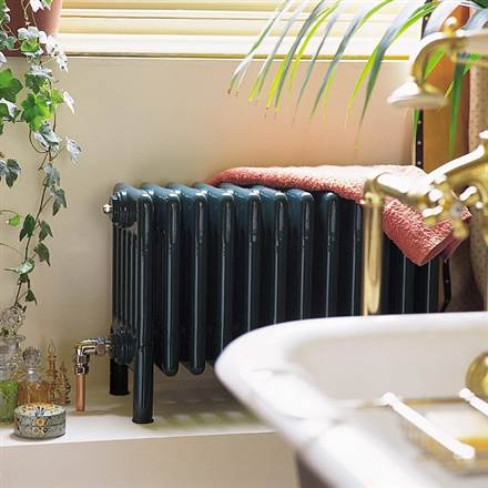 Bisque Classic 6 Column Radiators with Welded Feet