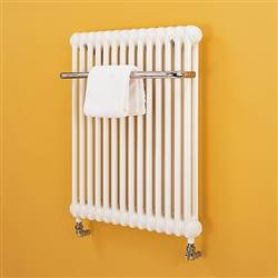 Bisque Classic Towel Traditional Radiator - White
