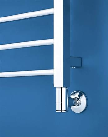 Bisque Deline Straight Electric Heated Towel Rail