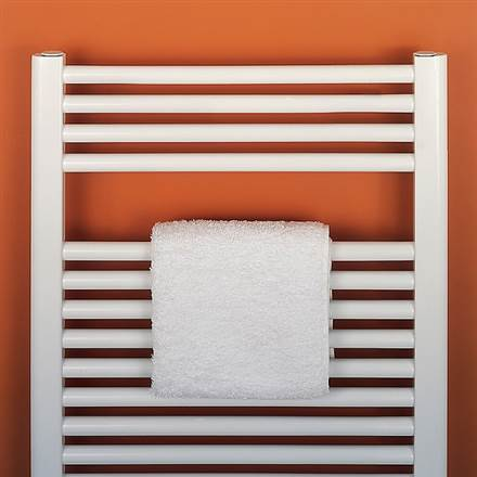 Bisque Deline Straight Heated towel Rail