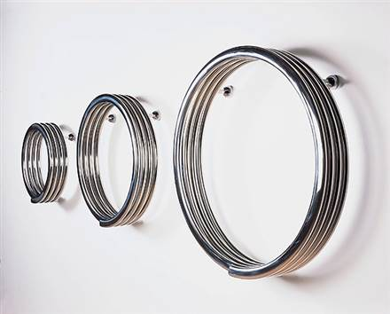 Bisque Hot Hoop Designer Radiator