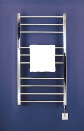 Bisque Olga Stainless Steel Electric Heated Towel Rail
