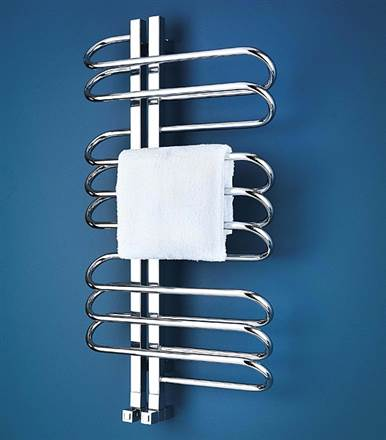 Bisque Orbit  Stainless Steel Electric Heated Towel Rail