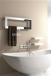 Reina Bivano Stainless Steel Designer Heated Towel Rail