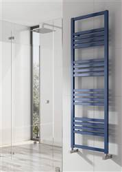 Reina Bolca Aluminium Heated Towel Rail - Blue Satin