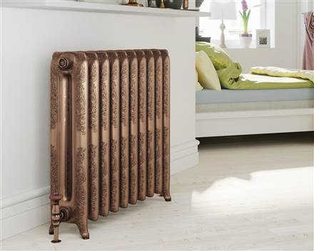 DQ Double Quick Bronte Cast Iron Radiator - 660mm High
