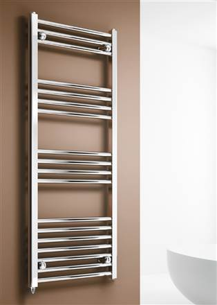 Reina Capo Curved Chrome Electric Towel Rail