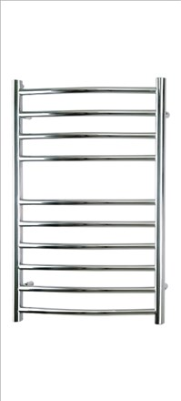 Reina Eos Curved Stainless Steel Heated Towel Rail