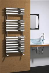 Reina Helin Straight Stainless Steel Heated Towel Rail