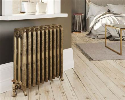 DQ Double Quick Loxley Cast Iron Radiator - 970mm High