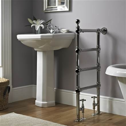 Vogue Butler Floor and Wall Mounted Traditional Towel Rail