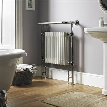 Vogue Regency Floor Mounted Heated Towel Rail LG004
