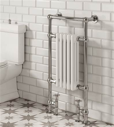 Reina Oxford Traditional Floor Mounted Heated Towel Rail