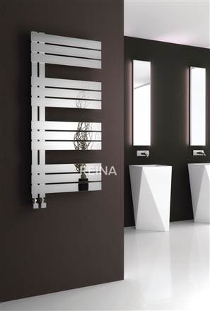 Reina Ricadi Stainless Steel Designer Heated Towel Rail