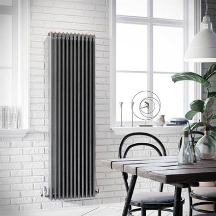 Apollo Roma 3 Column Vertical Radiator - Raw Metal