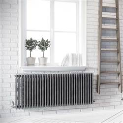 Apollo Roma 3 Column Horizontal Radiators - Raw Metal